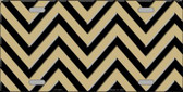 Gold Black Chevron Wholesale Metal Novelty License Plate LP-5044
