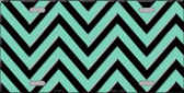 Mint Black Chevron Wholesale Metal Novelty License Plate LP-5045