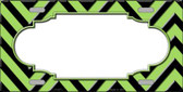 Lime Green Black Chevron Scallop Wholesale Metal Novelty License Plate LP-5073