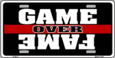 Game Over Fame Wholesale Metal Novelty License Plate LP-5171