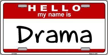 Drama Wholesale Metal Novelty License Plate
