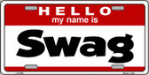 Swag Wholesale Metal Novelty License Plate LP-5196