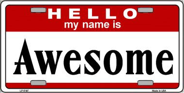Awesome Wholesale Metal Novelty License Plate LP-5197