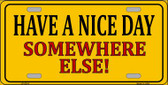 Have a Nice Day Wholesale Metal Novelty License Plate