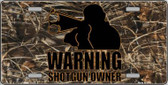 Warning Shotgun Owner Wholesale Metal Novelty License Plate LP-5264