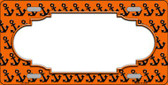 Orange Black Anchor Print With Scallop Center Wholesale Metal Novelty License Plate LP-5318