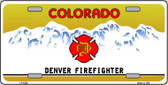 Denver Fire Fighter Wholesale Metal Novelty License Plate