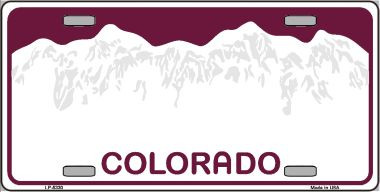 Colorado novelty state background blank wholesale metal for Arizona fishing license for seniors