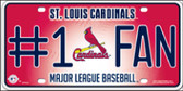 Cardinals Fan Wholesale Metal Novelty License Plate