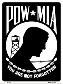 POW MIA Wholesale Metal Novelty Parking Sign P-101
