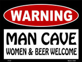 Women And Beer Welcome Wholesale Metal Novelty Parking Sign P-127