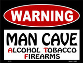 Alcohol Tobacco Firearms Wholesale Metal Novelty Parking Sign P-173
