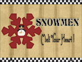 Snowflake Snowmen Wholesale Metal Novelty Parking Sign P-200