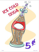 Ice Cold Soda Wholesale Metal Novelty Parking Sign P-2007