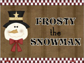 Frosty Snowman Wholesale Metal Novelty Parking Sign P-201
