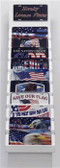 Package 4 - American Patriot -120 Best Sellers Wholesale Novelty License Plates with Cardboard Display