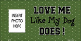 Dog Love Green Photo Insert Pocket Wholesale Metal Novelty Sign