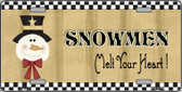 Snowmen Melt Your Heart Wholesale Metal Novelty License Plate XMAS-17