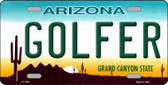 Golfer Arizona Novelty Wholesale Metal License Plate