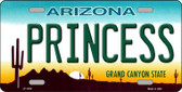 Princess Arizona Novelty Wholesale Metal License Plate