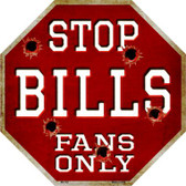 Bills Fans Only Wholesale Metal Novelty Octagon Stop Sign BS-183
