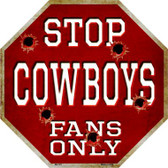 Cowboys Fans Only Wholesale Metal Novelty Octagon Stop Sign BS-191