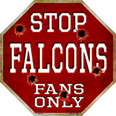 Falcons Fans Only Wholesale Metal Novelty Octagon Stop Sign BS-194