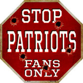 Patriots Fans Only Wholesale Metal Novelty Octagon Stop Sign BS-201