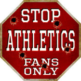 Athletics Fans Only Wholesale Metal Novelty Octagon Stop Sign BS-214