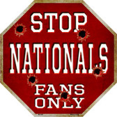 Nationals Fans Only Wholesale Metal Novelty Octagon Stop Sign BS-228