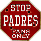 Padres Fans Only Wholesale Metal Novelty Octagon Stop Sign BS-230