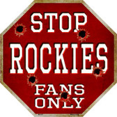 Rockies Fans Only Wholesale Metal Novelty Octagon Stop Sign BS-237