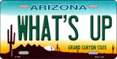 What's Up Novelty Wholesale Metal License Plate