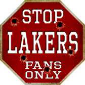 Lakers Fans Only Wholesale Metal Novelty Octagon Stop Sign BS-255