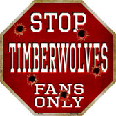 Timberwolves Fans Only Wholesale Metal Novelty Octagon Stop Sign BS-259