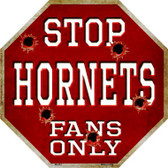 Hornets Fans Only Wholesale Metal Novelty Octagon Stop Sign BS-261