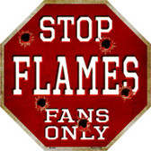 Flames Fans Only Wholesale Metal Novelty Octagon Stop Sign BS-289