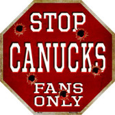 Canucks Fans Only Wholesale Metal Novelty Octagon Stop Sign BS-302