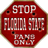Florida State Fans Only Wholesale Metal Novelty Octagon Stop Sign BS-309
