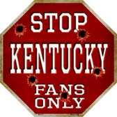 Kentucky Fans Only Wholesale Metal Novelty Octagon Stop Sign BS-312