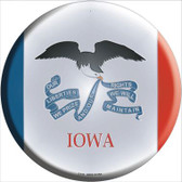 Iowa State Flag Wholesale Metal Circular Sign
