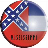 Mississippi State Flag Wholesale Metal Circular Sign