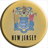 New Jersey State Flag Wholesale Metal Circular Sign