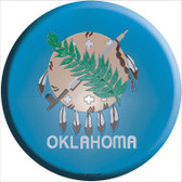 Oklahoma State Flag Wholesale Metal Circular Sign