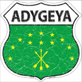 Adygeya Country Flag Highway Shield Wholesale Metal Sign