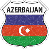 Azerbaijan Country Flag Highway Shield Wholesale Metal Sign