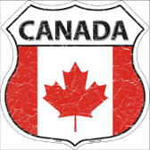 Canada Country Flag Highway Shield Wholesale Metal Sign