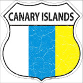Canary Islands Country Flag Highway Shield Wholesale Metal Sign