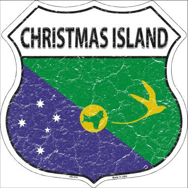Christmas Island Country Flag Highway Shield Wholesale Metal Sign