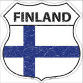 Finland Country Flag Highway Shield Wholesale Metal Sign